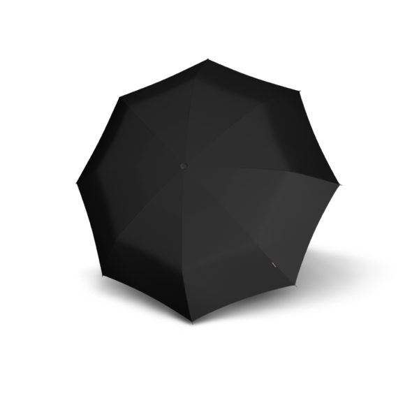 Unisex skėtis Knirps T200 Duomatic, juoda, išskleistas
