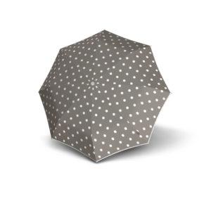 Moteriškas skėtis Knirps T200 Duomatic, pilka, išskleistas