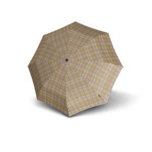 Unisex skėtis Knirps T200 Duomatic, smėlio spalvos, išskleistas