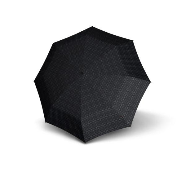 Vyriškas skėtis Knirps T200 Duomatic, languotas, išskleistas