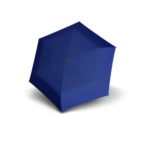 Unisex skėtis Doppler Fiber Mini Compact, mėlyna, išskleistas