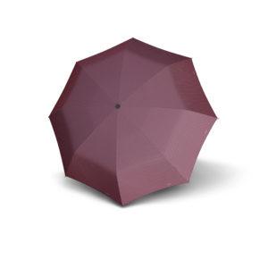 Moteriškas skėtis Doppler Carbonsteel Chic, tamsiai raudona, išskleistas