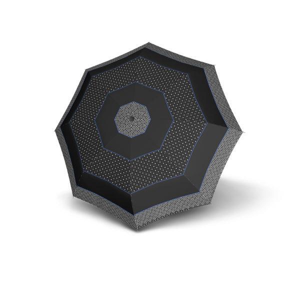 Moteriškas skėtis Derby Hit Triple, margas su mėlyna, išskleistas