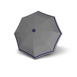 Moteriškas skėtis Derby Hit Triple, dryžuotas su mėlyna, išskleistas