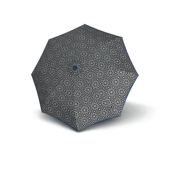 Moteriškas skėtis Derby Hit Triple, raštuotas su mėlyna, išskleistas