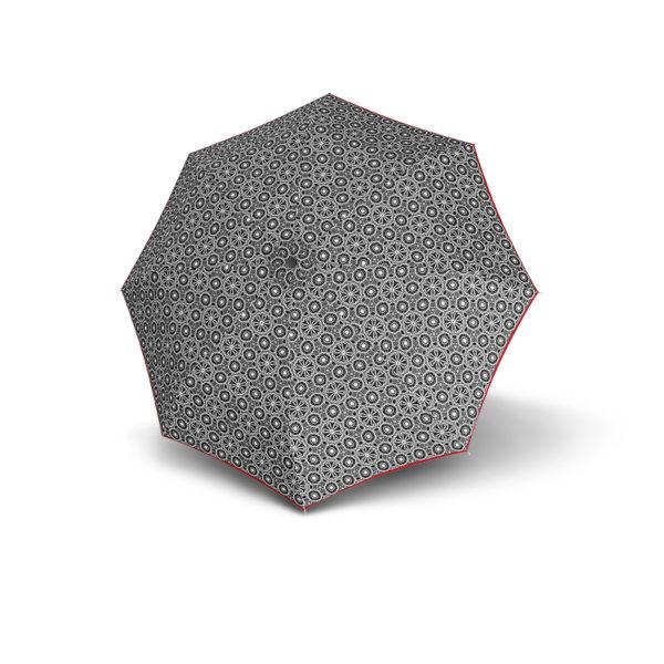 Moteriškas skėtis Derby Hit Triple, raštuotas su raudona, išskleistas