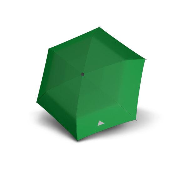 Vaikiškas skėtis Doppler Kids Reflex, žalia, su atšvaitu, išskleistas