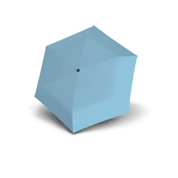 Moteriškas skėtis Doppler Fiber Handy Uni, šviesiai mėlyna, išskleistas