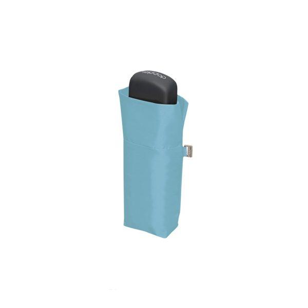 Moteriškas skėtis Doppler Fiber Handy Uni, šviesiai mėlyna, suskleistas