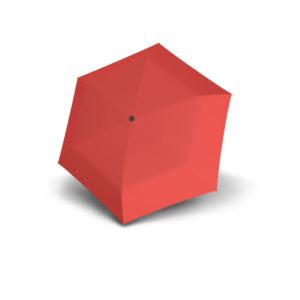 Moteriškas skėtis Doppler Fiber Handy Uni, šviesiai raudona, išskleistas
