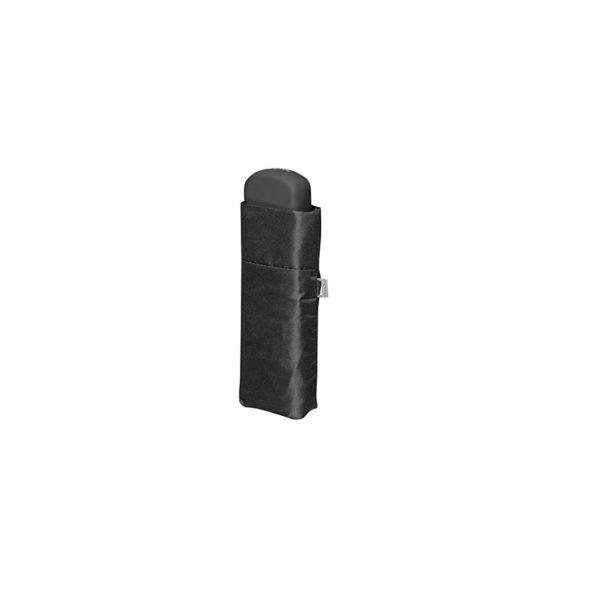Unisex skėtis Doppler Fiber Handy Uni, juoda, suskleistas