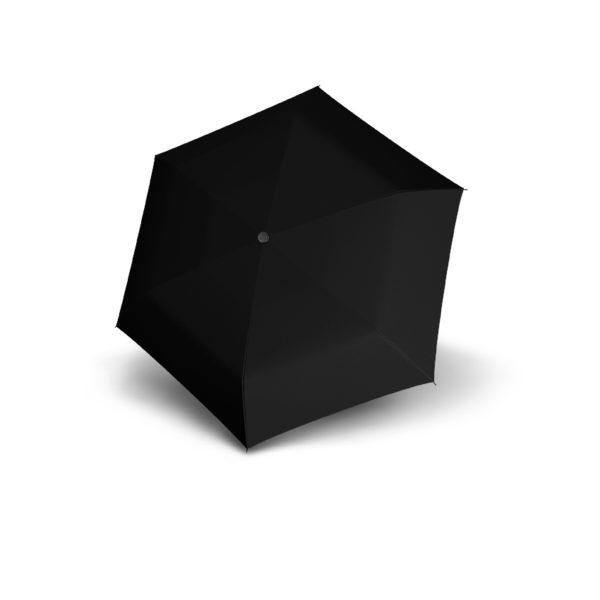 Unisex skėtis Doppler Fiber Handy Uni, juoda, išskleistas