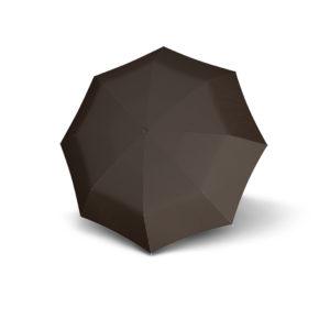 Vyriškas skėtis Doppler Fiber Mini, ruda, išskleistas