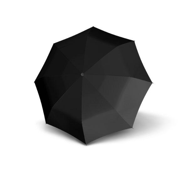 Vyriškas skėtis Doppler Fiber Mini, juoda, išskleistas