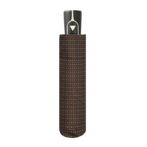 Vyriškas skėtis Doppler Fiber Automatic, ruda, suskleistas