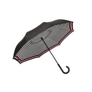 Moteriškas skėtis Doppler Fiber Crazy, dryžuotas, išskleistas