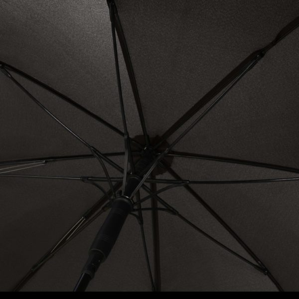 Unisex skėtis Doppler Fiber Move, juoda ir pilka, stipinai