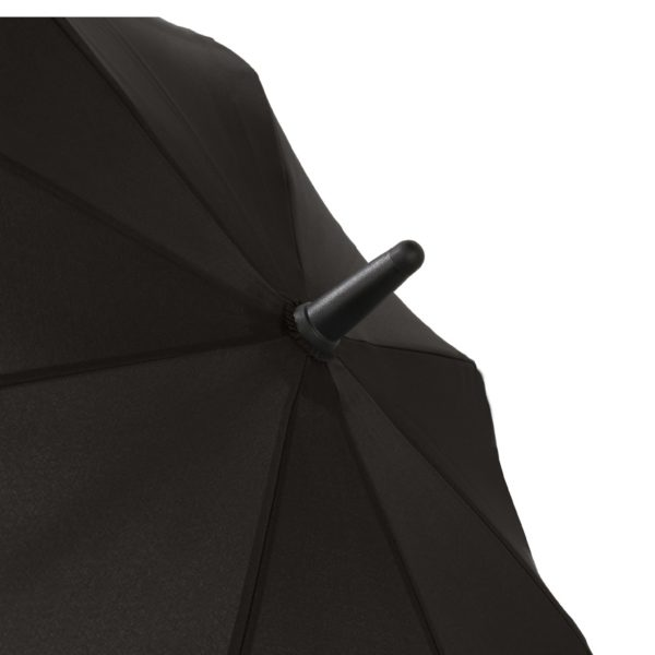 Unisex skėtis Doppler Fiber Move, juoda ir pilka, kupolo viršus