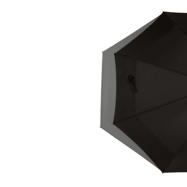 Unisex skėtis Doppler Fiber Move, juoda ir pilka, pusė