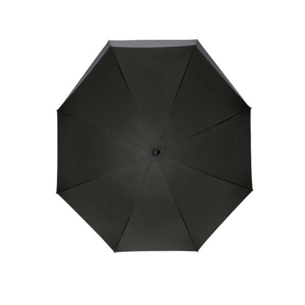 Unisex skėtis Doppler Fiber Move, juoda ir pilka, kupolas