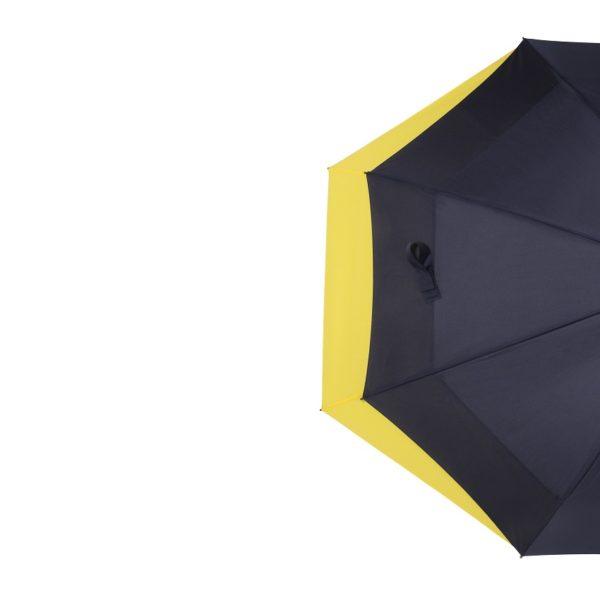 Unisex skėtis Doppler Fiber Move, mėlyna ir geltona, pusė