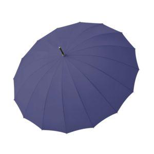 Moteriškas skėtis Doppler Natural London, mėlyna, išskleistas