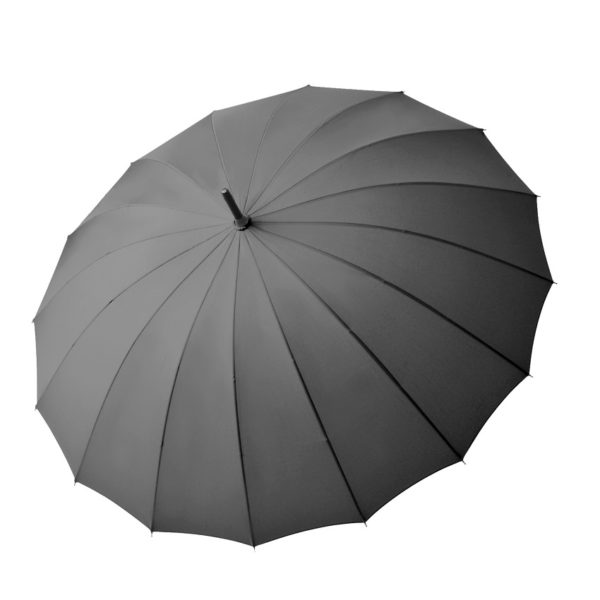 Unisex skėtis Doppler Natural London, antracito spalva, išskleistas