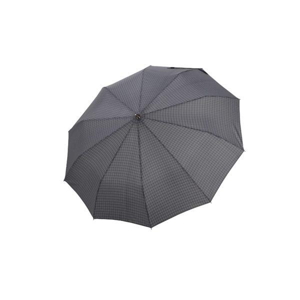 Vyriškas skėtis Doppler Fiber Magic Strong, languotas, išskleistas
