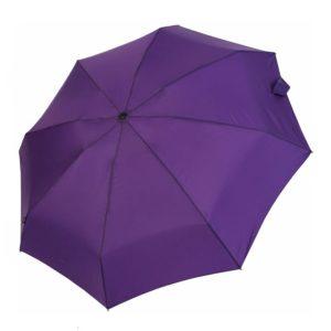 Moteriškas skėtis Knirps X1, violetinė, mechaninis, su įdėklu, išskleistas