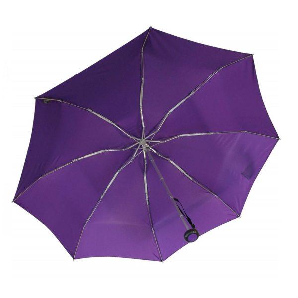 Moteriškas skėtis Knirps X1, violetinė, mechaninis, su įdėklu, kupolas iš apačios