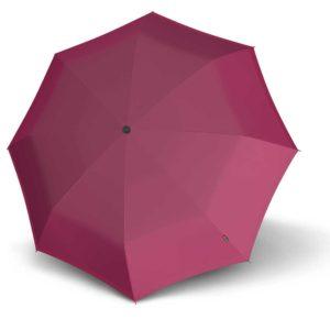 Moteriškas skėtis Knirps X1, rožinė, mechaninis, su įdėklu, išskleistas