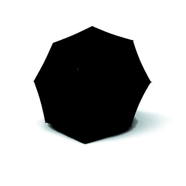 Unisex skėtis, Knirps T703 Stick Automatic, juoda, išskleistas
