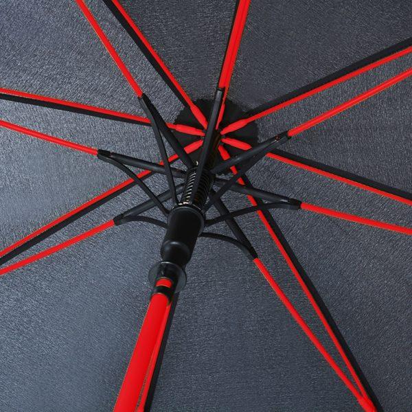 Unisex skėtis Doppler Fiber Party, su raudonais stipinais, stipinai