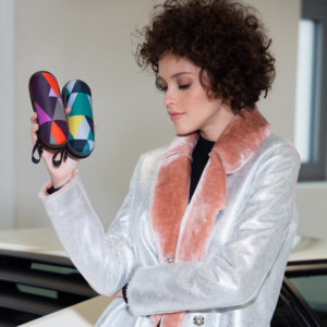 Modelis su moteriškais skėčiais Knirps X1 Fashion Collection Dona Lake ir Purple
