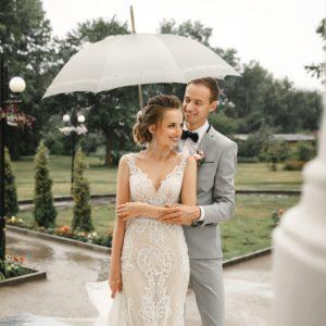 Moteriškas rankų darbo vestuvinis skėtis Doppler Manufaktur Wedding Pearl vestuvės