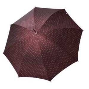 Moteriškas rankų darbo skėtis Doppler Manufaktur Elegance Cottage vyno sp. atidarytas