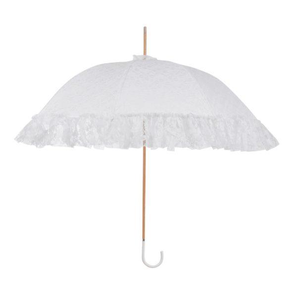 Vienetinis rankų darbo vestuvinis skėtis Traditional atidarytas