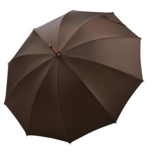 Vyriškas rankų darbo skėtis Doppler Manufaktur Chestnut Orion atidarytas