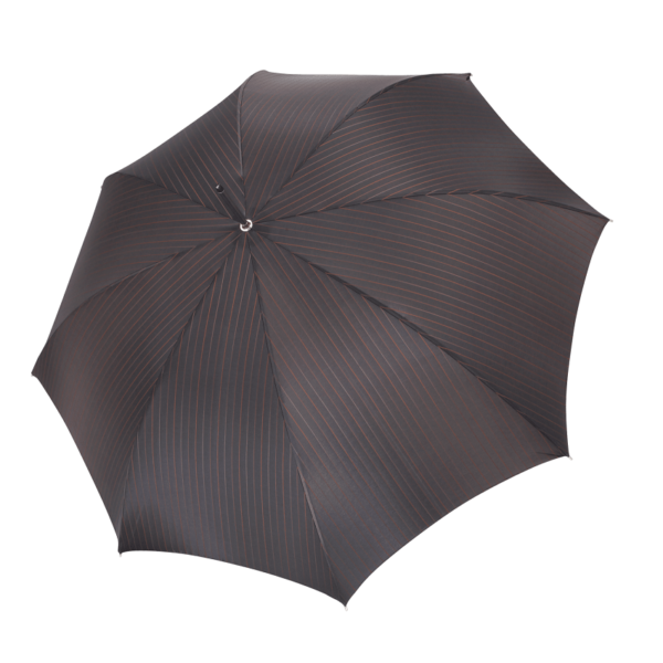 Vyriškas rankų darbo skėtis Doppler Manufaktur Diplomat Orion su medine rankena atidarytas