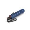 Moteriškas skėtis Knirps T200 atidarytas Duomatic Kelly Blue suskleistas