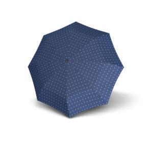 Moteriškas skėtis Knirps T200 Duomatic Kelly Blue išskleistas
