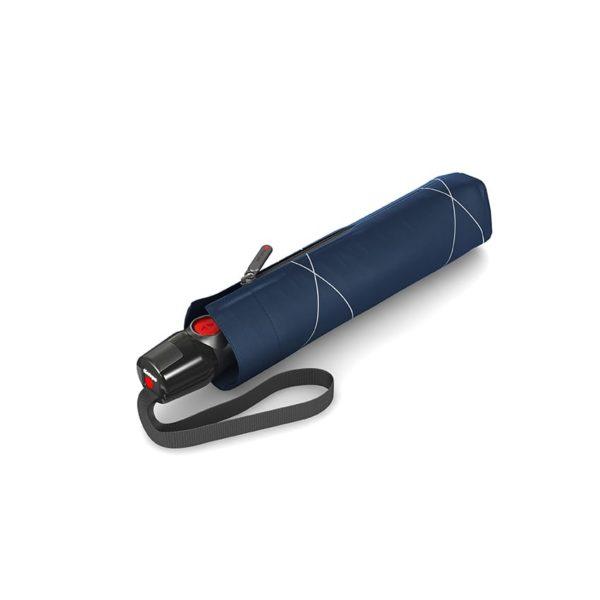Moteriškas skėtis Knirps T200 Duomatic NUNO Flow uždarytas
