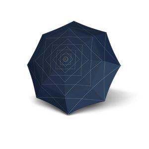 Moteriškas skėtis Knirps T200 Duomatic NUNO Flow atidarytas