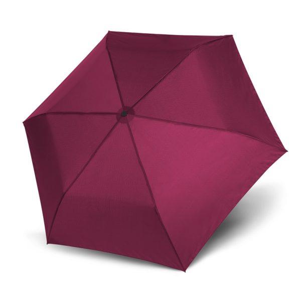Unisex skėtis Doppler Zero Magic Royal Berry, satininė bordo, atidarytas