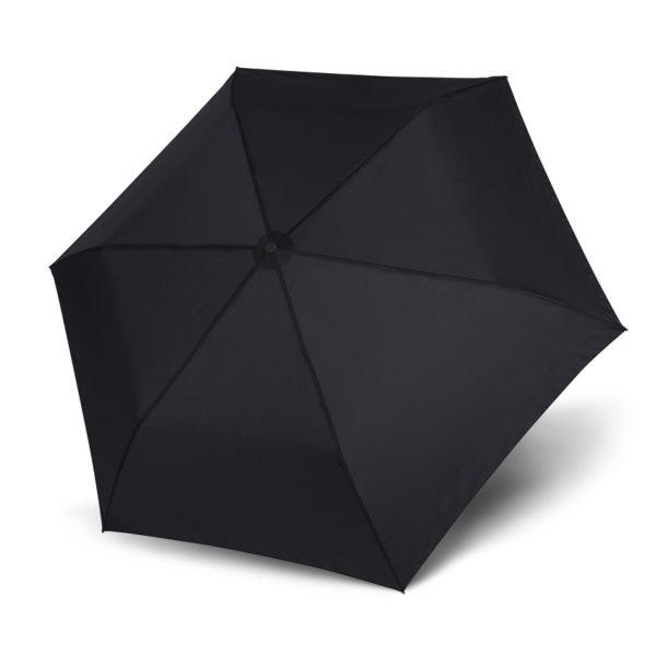 Unisex skėtis Doppler Zero Magic Simply Black, juoda, atidarytas