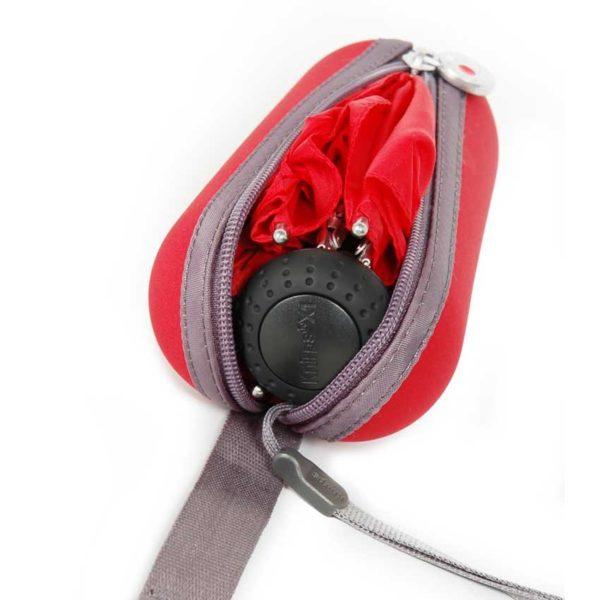 Moteriškas skėtis Knirps X1 Heart, raudona