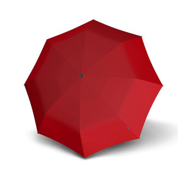 Moteriškas skėtis Knirps X1 Heart, raudona atidarytas