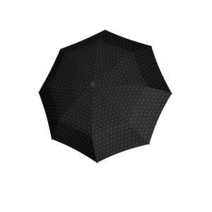 Moteriškas skėtis Doppler Fiber Magic Black&White juodas išskleistas