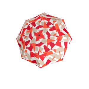 Moteriškas skėtis Doppler Automatic Crush raudona, skėčio kupolas