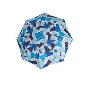 Moteriškas skėtis Doppler Automatic Crush mėlynas kupolas